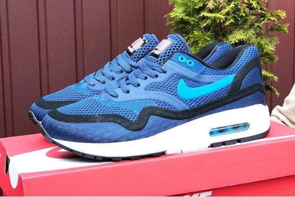 Мужские кроссовки Nike Air Max 1 Breathe синие с черным