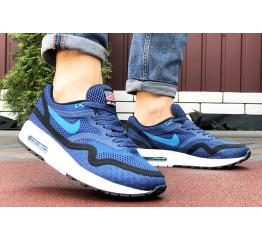 Купить Мужские кроссовки Nike Air Max 1 Breathe синие с черным в Украине
