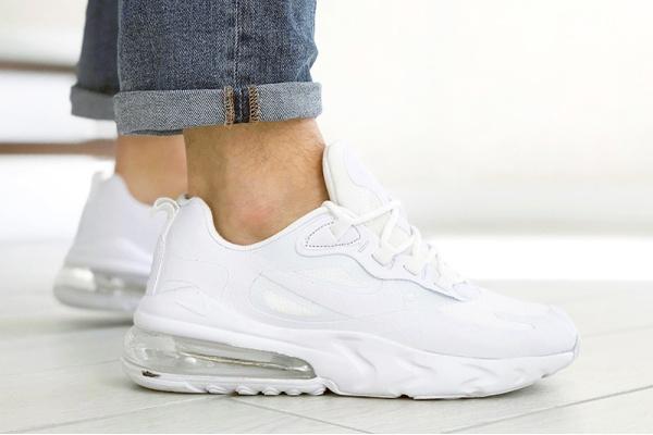 Мужские кроссовки Nike Air Max 270 React белые