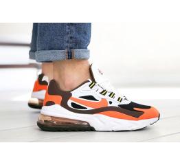 Купить Чоловічі кросівки Nike Air Max 270 React білі з помаранчевим