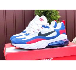 Купить Чоловічі кросівки Nike Air Max 270 React білі з синім і червоним в Украине
