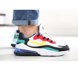 Купить Чоловічі кросівки Nike Air Max 270 React білі з жовтим і червоним