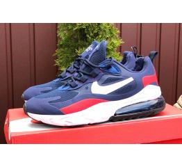 Купить Чоловічі кросівки Nike Air Max 270 React сині з білим в Украине