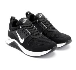 Мужские кроссовки Nike Air Max черные с белым