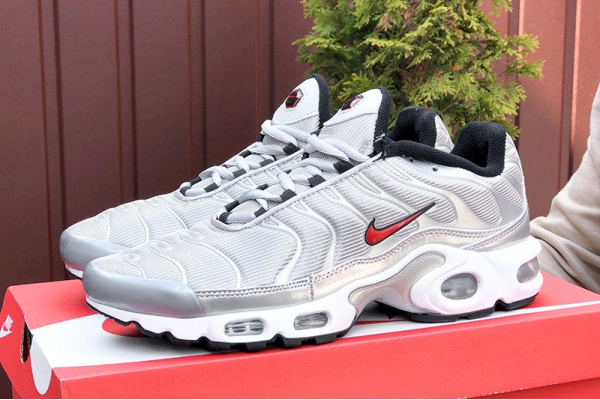 Мужские кроссовки Nike Air Max Plus TN серебряные
