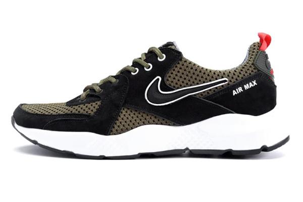 Мужские кроссовки Nike Air Max зеленые с черным