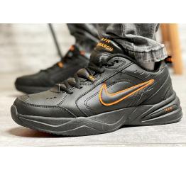 Купить Мужские кроссовки Nike Air Monarch IV черные с оранжевым