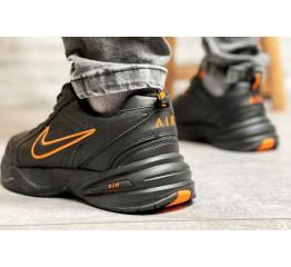 Купить Чоловічі кросівки Nike Air Monarch IV чорні з помаранчевим в Украине