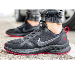 Мужские кроссовки Nike Air Zoom Winflo черные с красным