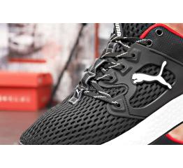 Мужские кроссовки Puma черные с белым и красным (black/white/red)