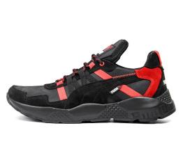 Купить Мужские кроссовки Puma черные с красным
