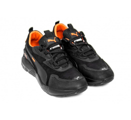 Купить Чоловічі кросівки Puma чорні з помаранчевим в Украине