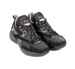 Купить Мужские кроссовки Puma черные с серым в Украине