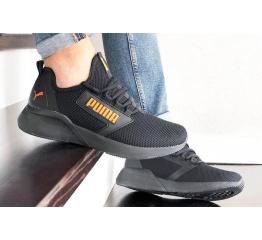 Мужские кроссовки Puma Retaliate черные с оранжевым