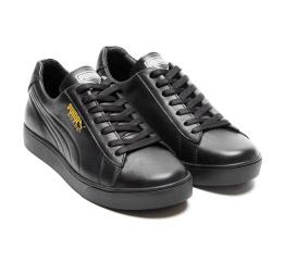 Купить Мужские кроссовки Puma Suede черные (black) в Украине