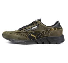 Купить Мужские кроссовки Puma зеленые