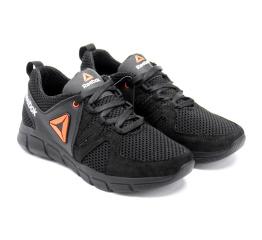 Купить Чоловічі кросівки Reebok чорні з помаранчевим в Украине