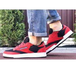 Купить Чоловічі кросівки Reebok Club C 85 червоні з чорним