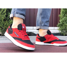 Мужские кроссовки Reebok Club C 85 красные с черным