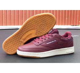 Купить Мужские кроссовки Reebok Club C 85 Shoes бордовые