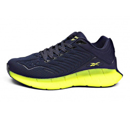 Купить Мужские кроссовки Reebok Zig Kinetica темно-синие с зеленым