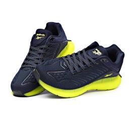 Купить Мужские кроссовки Reebok Zig Kinetica темно-синие с зеленым в Украине