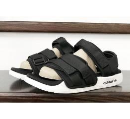 Купить Чоловічі сандалі Adidas Adilette 2.0 чорні з білим в Украине