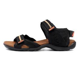 Купить Мужские сандалии Nike черные с оранжевым