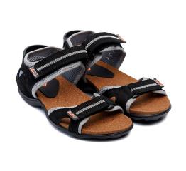 Купить Чоловічі сандалі Nike чорні з сірим в Украине