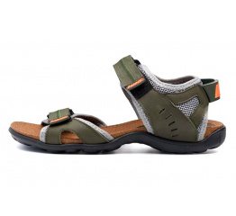 Купить Мужские сандалии Nike зеленые с серым