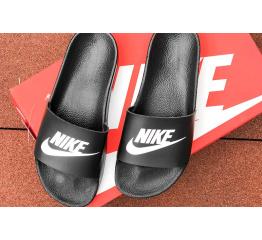 Купить Мужские шлепанцы Nike Air черные с белым
