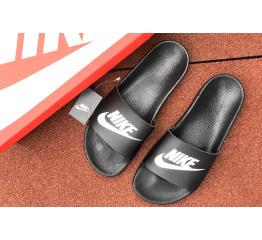 Купить Мужские шлепанцы Nike Air черные с белым в Украине