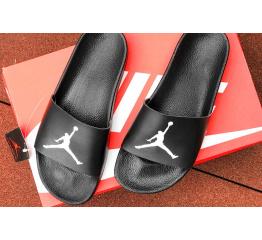 Купить Мужские шлепанцы Nike Air Jordan черные с белым