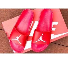 Купить Мужские шлепанцы Nike Air Jordan красные