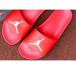 Купить Мужские шлепанцы Nike Air Jordan красные в Украине