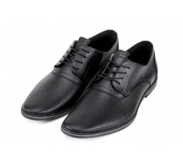 Купить Чоловічі туфлі VanKristi з перфорацією чорні в Украине