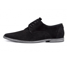 Купить Мужские туфли VanKristi с перфорацией черные