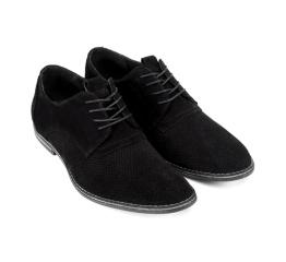 Купить Мужские туфли VanKristi с перфорацией черные в Украине