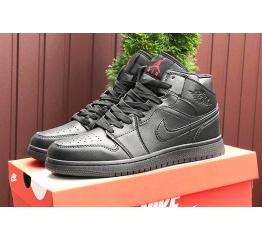 Купить Чоловічі високі кросівки Nike Air Jordan 1 Retro High OG чорні