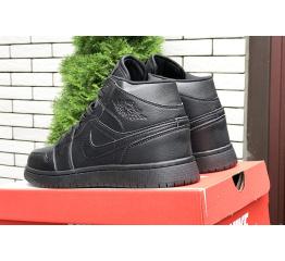 Купить Чоловічі високі кросівки Nike Air Jordan 1 Retro High OG чорні в Украине