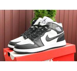 Купить Мужские высокие кроссовки Nike Air Jordan 1 Retro High OG черные с белым
