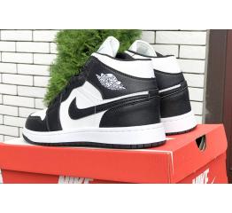 Купить Мужские высокие кроссовки Nike Air Jordan 1 Retro High OG черные с белым в Украине