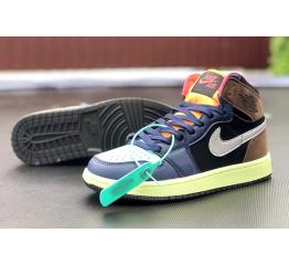 Купить Мужские высокие кроссовки Nike Air Jordan 1 Retro High OG многоцветные