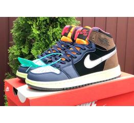 Купить Мужские высокие кроссовки Nike Air Jordan 1 Retro High OG многоцветные в Украине