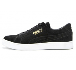 Купить Мужские кроссовки Puma Suede черные (black seude)