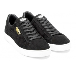 Купить Мужские кроссовки Puma Suede черные (black seude) в Украине