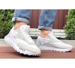 Мужские кроссовки Reebok Classic Leather Legacy белые с бежевым