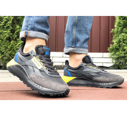 Мужские кроссовки Reebok Classic Leather Legacy черные с желтым