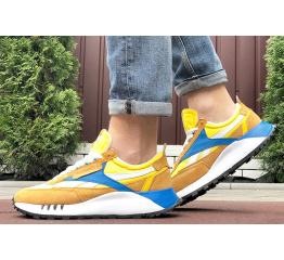 Мужские кроссовки Reebok Classic Leather Legacy коричневые с желтым