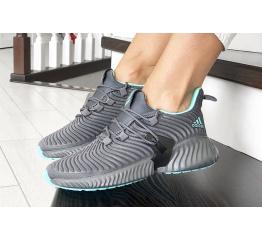 Женские кроссовки Adidas AlphaBOUNCE Instinct серые с бирюзовым